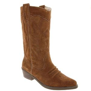 Roxy | Giddy Up Brown Suede Western Cowboy Boots